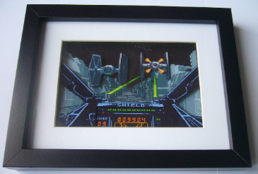Star Wars X-Wing Arcade Art  3D Diorama Shadow Box